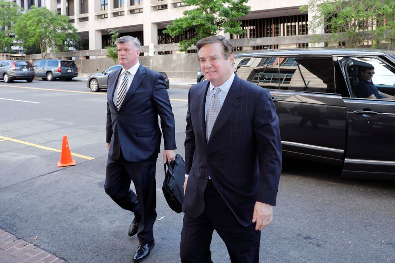 © Reuters. Paul Manafort arrives at the courthouse in Washington