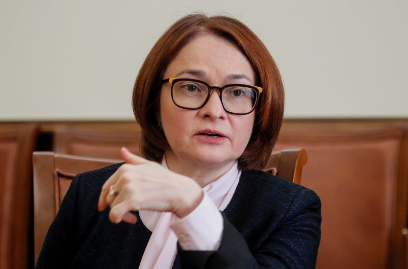 © Reuters. Russian Central Bank Governor Nabiullina gives an interview in Moscow