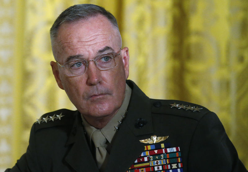 © Reuters. FILE PHOTO: U.S. Joint Chiefs Chairman Dunford attends meeting of the National Space Council at the White House in Washington