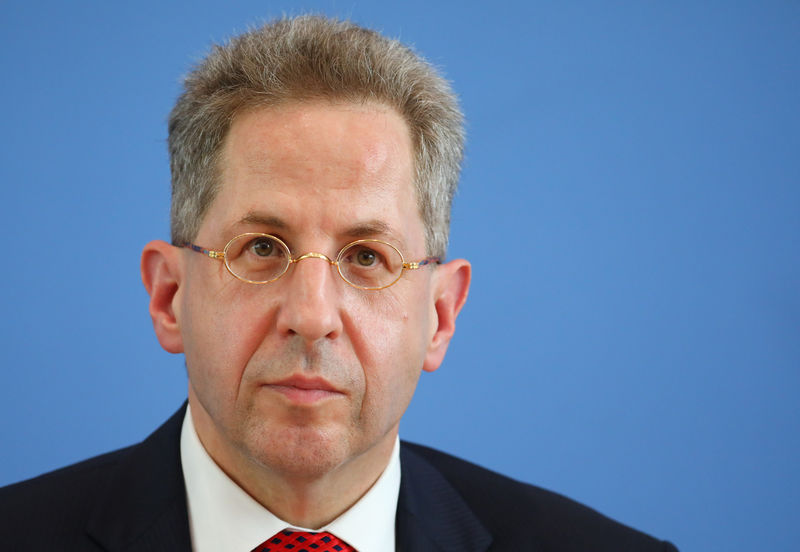 © Reuters. President of the Germany's Federal Office for the Protection of the Constitution Maassen attends a news conference in Berlin