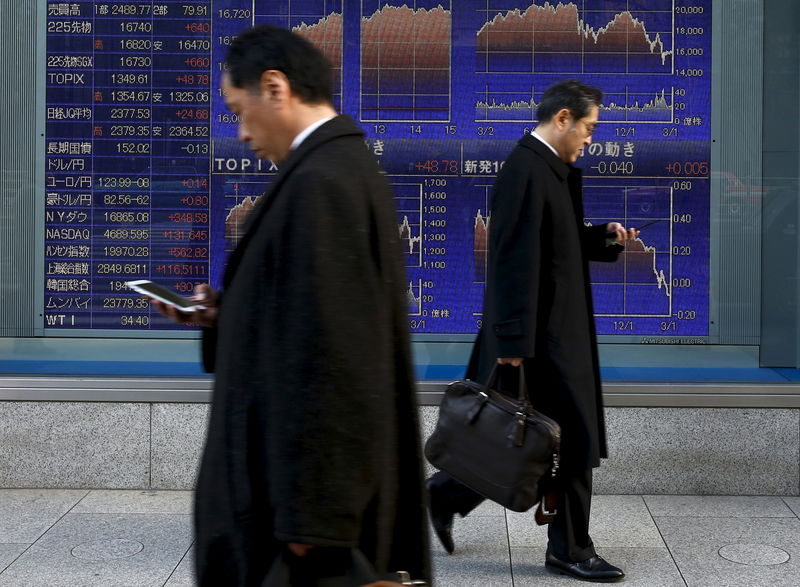 Image result for Asia shares hobbled by trade strain, pound up on Brexit talk