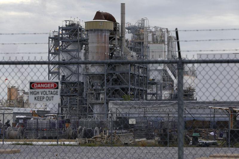 © Reuters. Planta industrial em West Lake, Louisiana, nos EUA