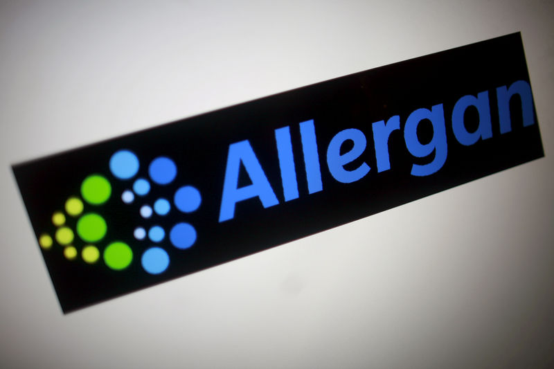 © Reuters. The Allergan logo is seen in this photo illustration