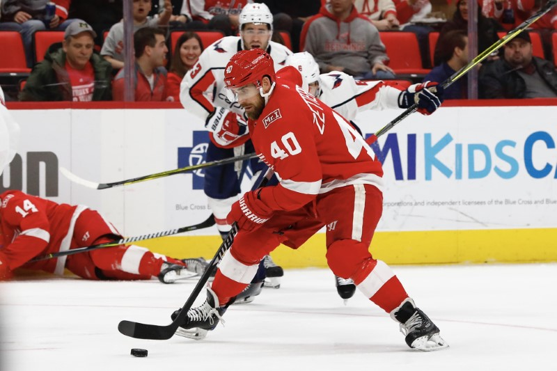 © Reuters. NHL: Washington Capitals at Detroit Red Wings