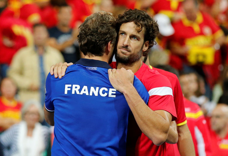 © Reuters. Davis Cup - World Group Semi-Final - France v Spain