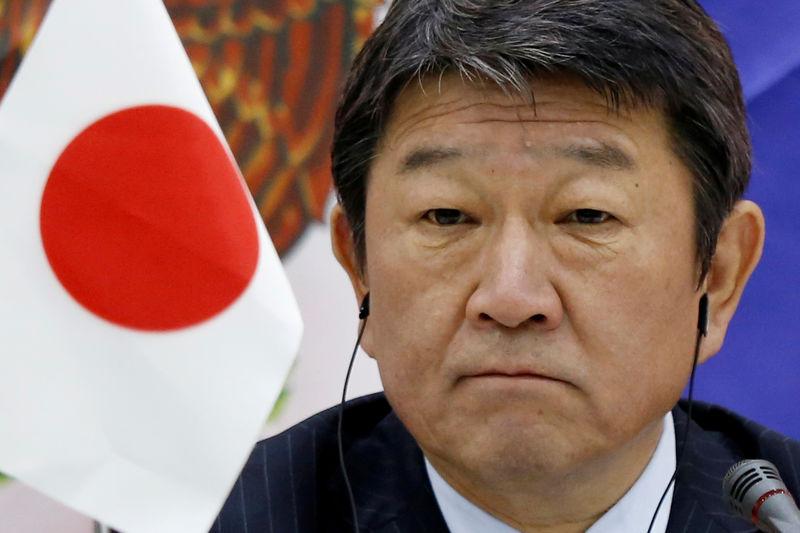 © رویترز. عکس مکتینی: وزیر احیا اقتصادی ژاپن ماتگی در یک کنفرانس خبری در نشست وزیران TPP در جریان APEC 2017 در دا ننگ حضور دارد