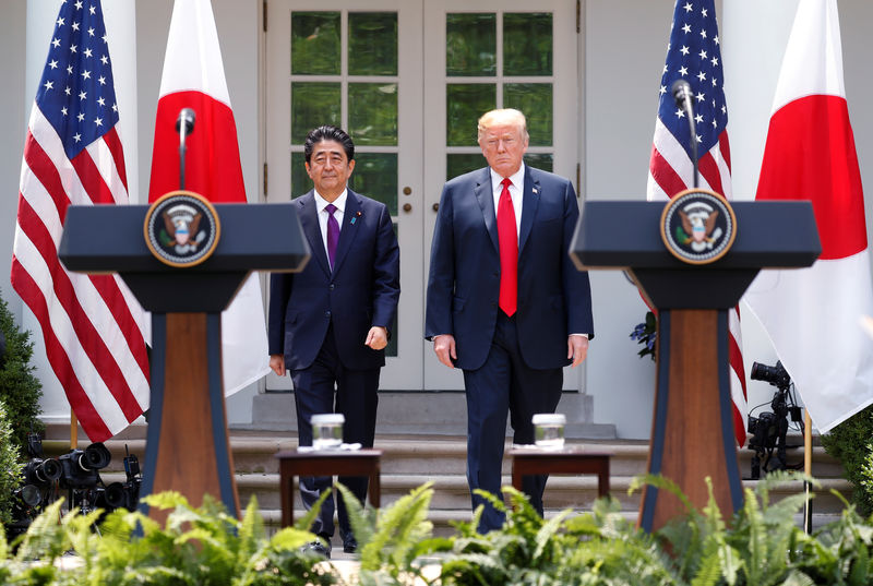 Image result for Japan PM Abe, U.S. President Trump to hold summit on Sept 26
