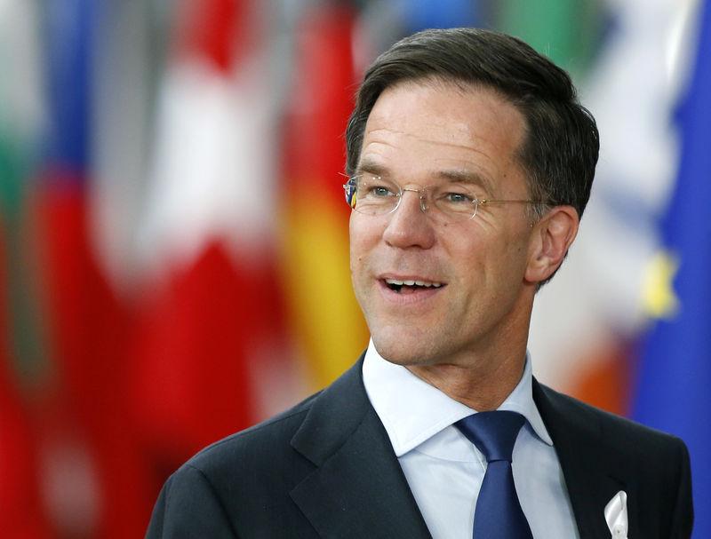 © Reuters. FILE PHOTO: Netherlands Prime Minister Mark Rutte
