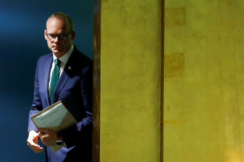 © Reuters. Irish Foreign Minister Coveney addresses the 73rd session of the United Nations General Assembly at U.N. headquarters in New York