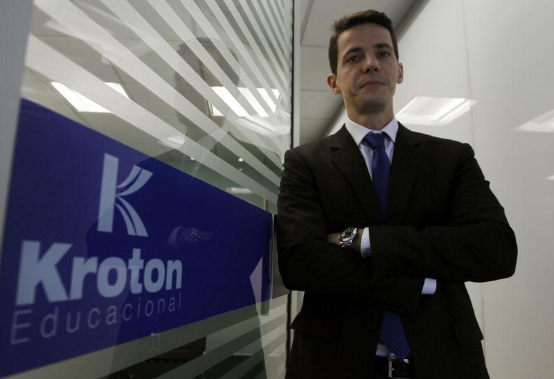 © Reuters. Presidente da Kroton Educacional, Rodrigo Galindo, durante Reuters Latin America Investment Summit, em 2013, em São Paulo