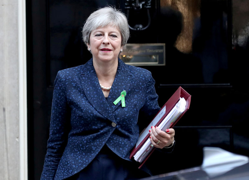 © Reuters. FILE PHOTO: Britain's Prime Minister Theresa May leaves Downing Street in London