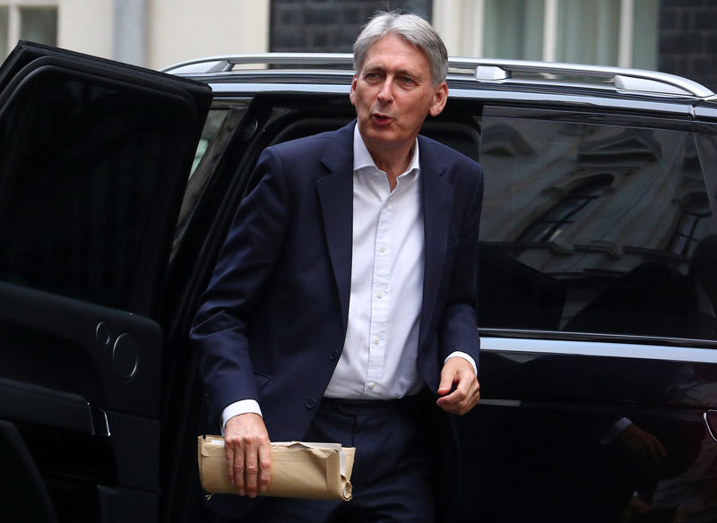 © Reuters. Britain's Chancellor of the Exchequer Philip Hammond arrives in Downing Street, London