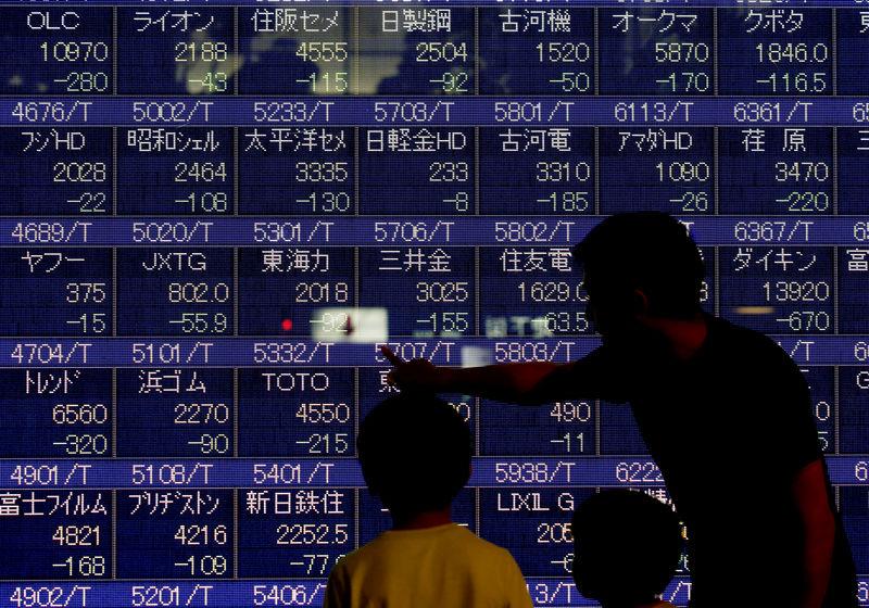 Asian shares bounce in choppy trade, trade war worries remain