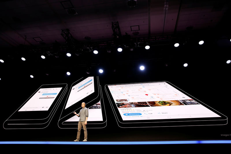 © Reuters. Samsung unveils foldable screen display in San Francisco