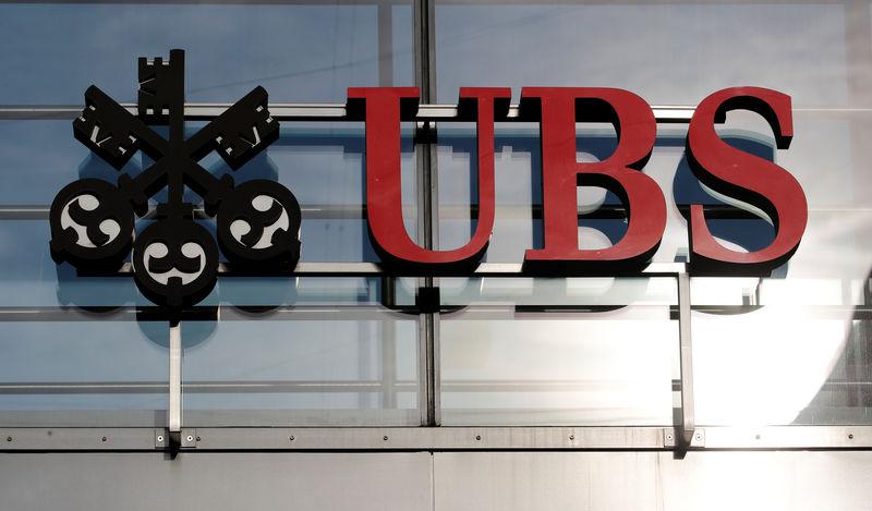 © Reuters. Logo of Swiss bank UBS is seen in Zurich