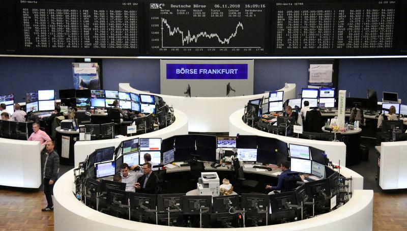 © Reuters. Las bolsas europeas caen al entrar en escena la Fed tras rebote postelectoral