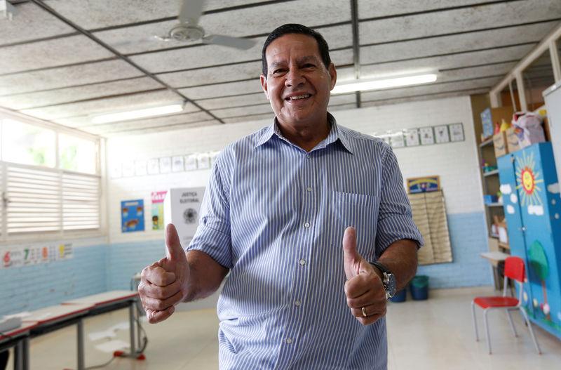 © Reuters. Vice-presidente eleito, general Hamilton Mourão, em Brasília