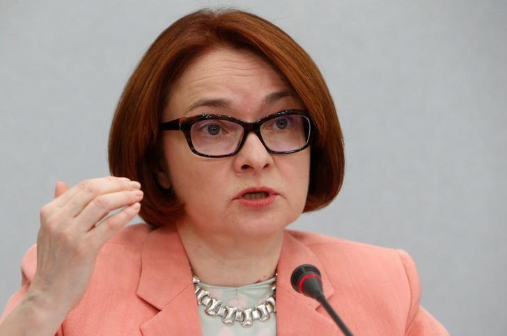© Reuters. Глава Банка России Эльвира Набиуллина на пресс-конференции в Москве
