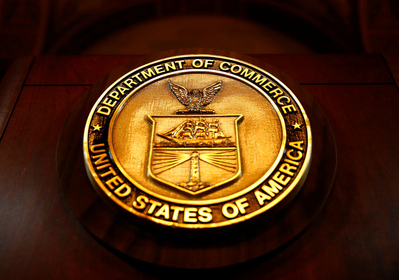 © Reuters. The seal of the Department of Commerce is pictured in Washington