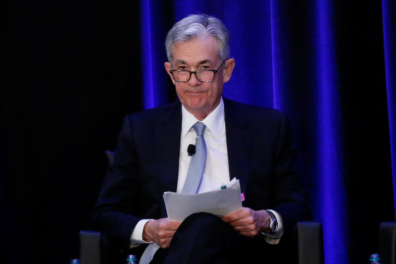 © Reuters. U.S. Federal Reserve Chairman Jerome Powell speaks at the American Economic Association/Allied Social Science Association (ASSA) 2019 meeting in Atlanta