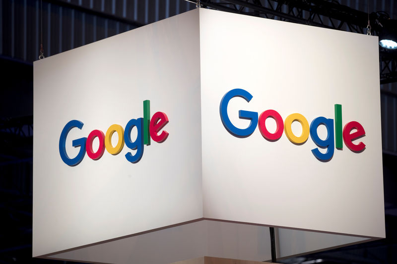 © Reuters. The logo of Google is pictured during the Viva Tech start-up and technology summit in Paris