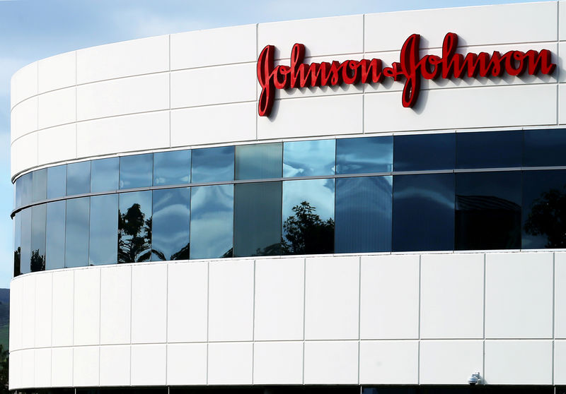 © Reuters. FILE PHOTO: FILE PHOTO: A Johnson & Johnson building is shown in Irvine