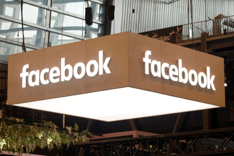 © Reuters. FILE PHOTO: The logo of Facebook is pictured during the Viva Tech start-up and technology summit in Paris