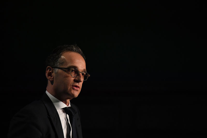 © Reuters. Germany's Foreign Minister Heiko Maas speaks during a 'Global Ireland' conference in Dublin