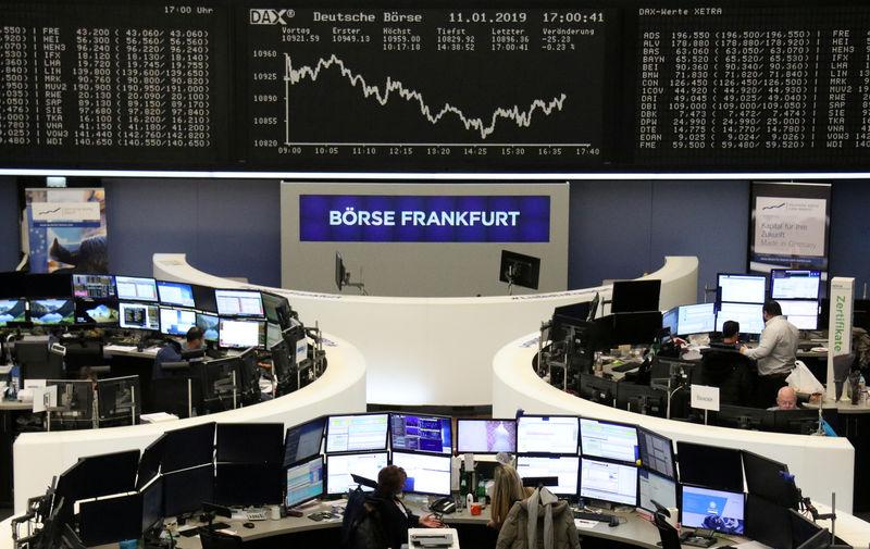 © Reuters. Gráfico do índice alemão de ações DAX na bolsa de valores de Frankfurt