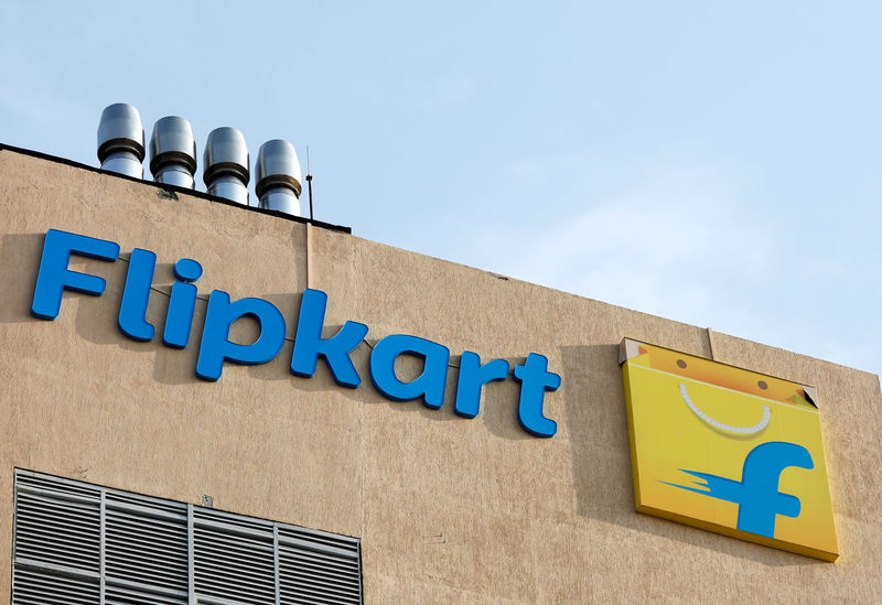 © Reuters. The logo of Flipkart is seen on the company's office in Bengaluru