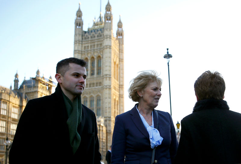 © Reuters. British lawmaker Anna Soubry is seen outside the Houses of Parliament in London