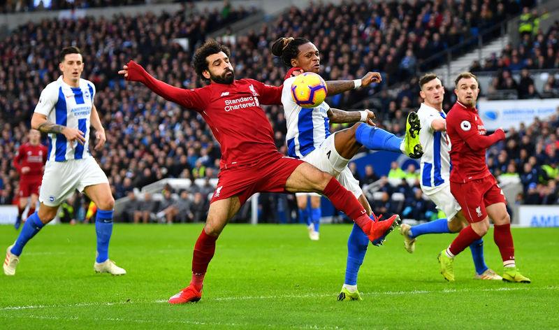 © Reuters. Premier League - Brighton & Hove Albion v Liverpool