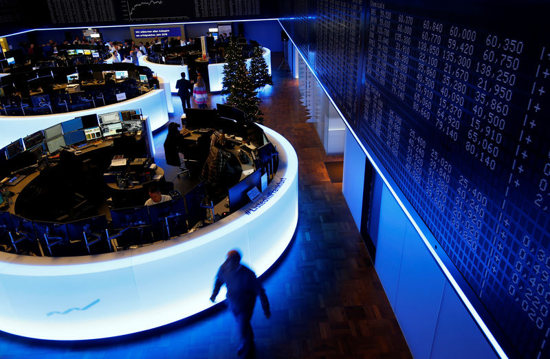 © Reuters. The trading floor of Frankfurt's stock exchange is pictured after the last trading day in Frankfurt