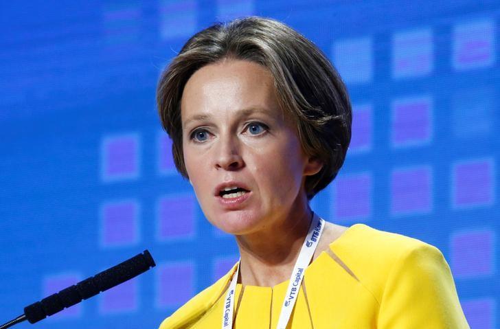 © Reuters. Генеральный директор Аналитического кредитного рейтингового агентства Екатерина Трофимова на форуме