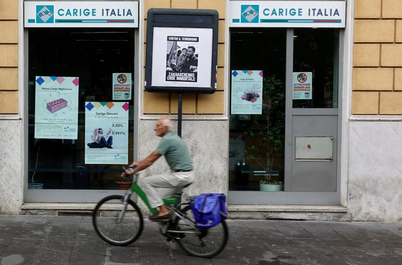 Italy's Carige will size upcoming state-backed bond at over 1 bln euros-sources