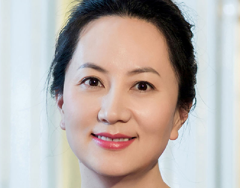 © Reuters. FILE PHOTO: Handout of Meng Wanzhou, Huawei Technologies Co Ltd's chief financial officer (CFO)