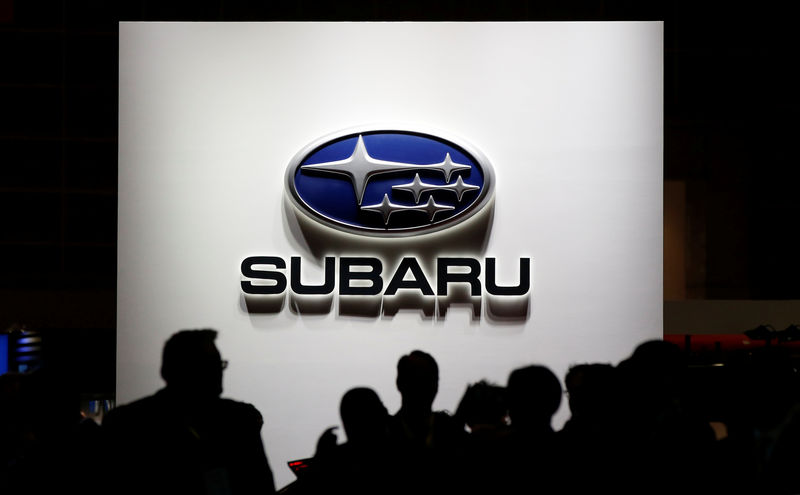 Subaru halts Japan car output on defective part, shares slide