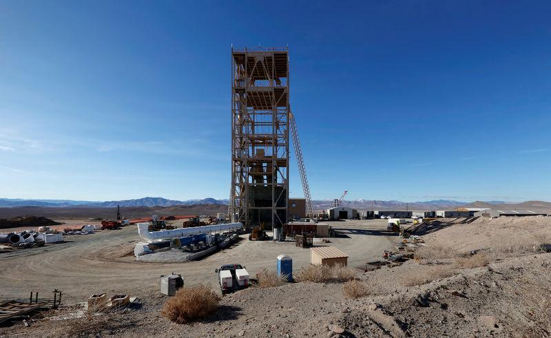© Reuters. Nevada Copper's Pumpkin Hollow copper mine in Yerington, Nevada