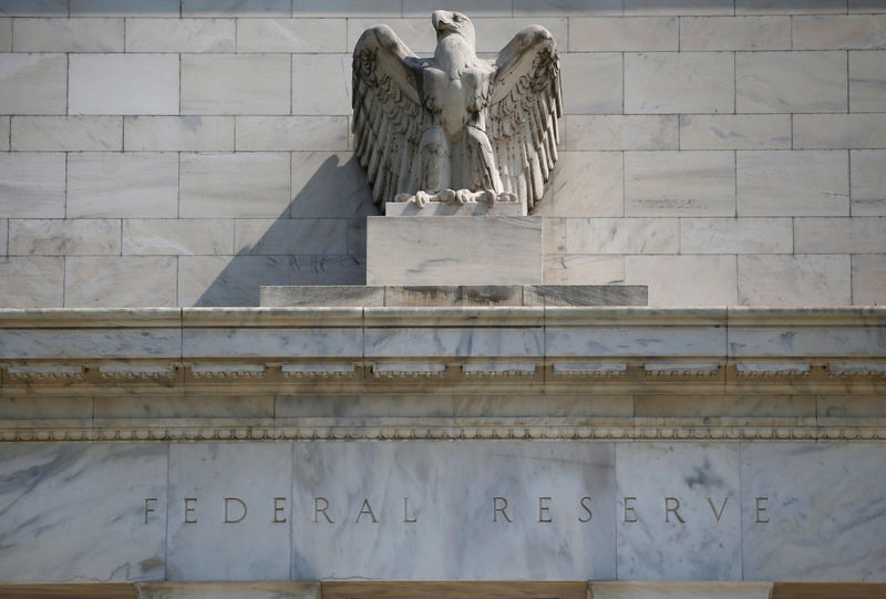 © Reuters. FILE PHOTO: Federal Reserve building pictured in Washington