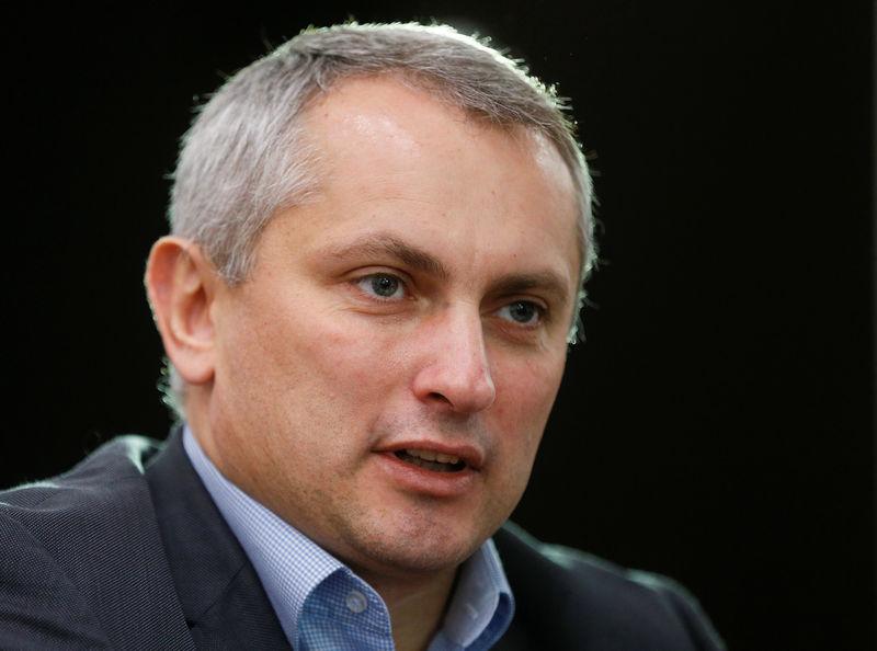 © Reuters. Глава киберполиции Украины Сергей Демедюк дает интервью Рейтер в Киеве