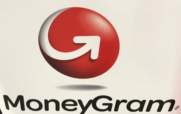 © Reuters. FILE PHOTO - The MoneyGram logo is seen on a kiosk in New York