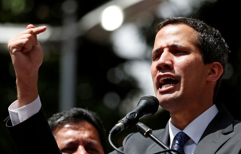 © Reuters. FILE PHOTO: Venezuela's opposition leader Juan Guaido holds a news conference in Caracas