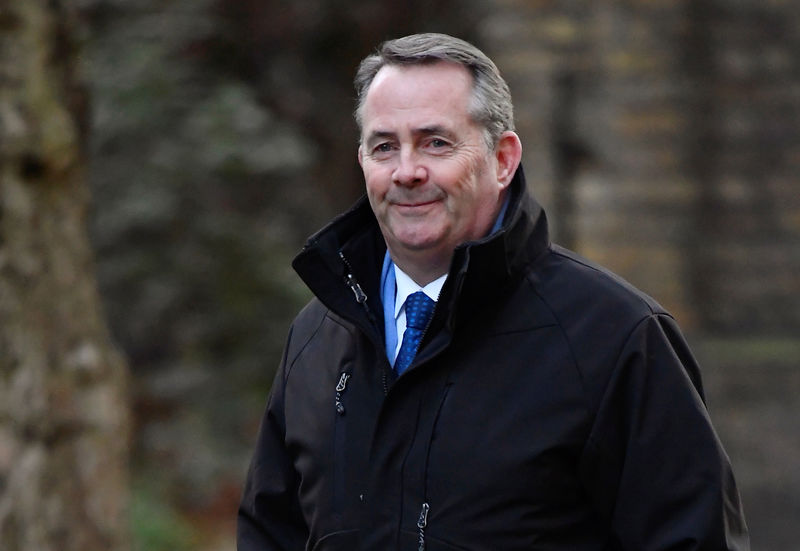 © Reuters. Britain's Secretary of State for International Trade Liam Fox arrives at Downing Street in London