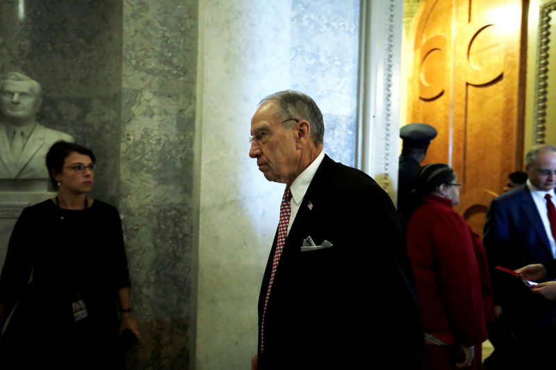 � Reuters. FILE PHOTO: U.S. Senate Judiciary Committee Chairman Grassley leaves the Senate chamber during Kavanaugh nomination debate on Capitol Hill in Washington