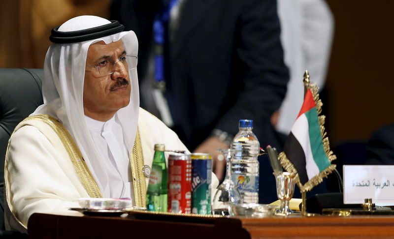 © Reuters. FILE PHOTO:  Sultan Bin Saeed Al Mansouri attends the opening meeting of the Arab Summit in Sharm el-Sheikh