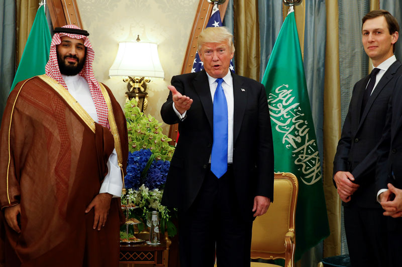 © Reuters. FILE PHOTO: U.S. President Trump meets with Saudi Arabia's Deputy Crown Prince Mohammed bin Salman in Riyadh