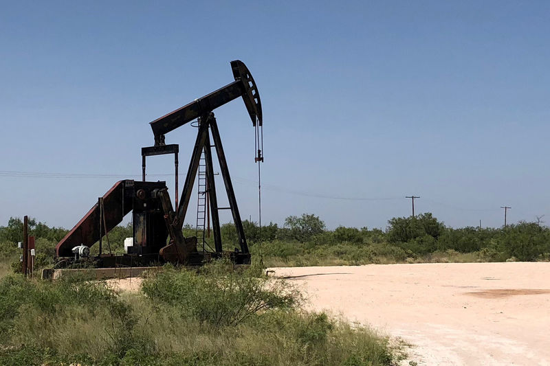 © Reuters. FILE PHOTO: A pumpjack is shown outside Midland-Odessa area in the Permian basin in Texas