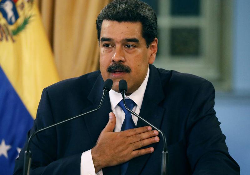 © Reuters. O presidente venezuelano, Nicolás Maduro, durante coletiva de imprensa no Palácio Miraflores em Caracas