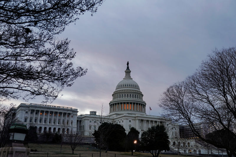 © Reuters. The U.S. Capitol is shown after the U.S. government reopened following 35-day shutdown in Washington