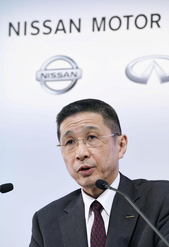 © Reuters. Nissan Motor Co Ltd Chief Executive Hiroto Saikawa speaks at a news conference in Yokohama